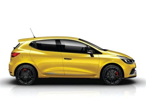 renault yellow 2014 clio rs 200 yellow oopscars