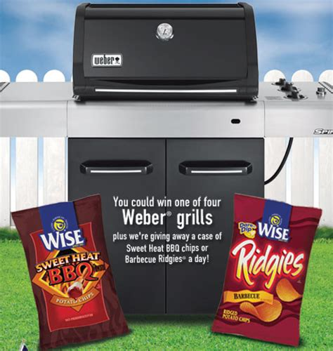Weber Grill Sweepstakes - wise foods weber grill giveaway on facebook addictedtosaving com