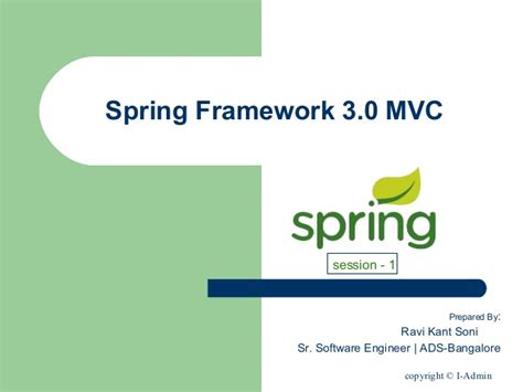 spring mvc framework an introduction to the spring framework spring framework