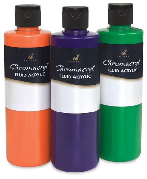 blick acrylic paint chromacryl fluid acrylics blick materials