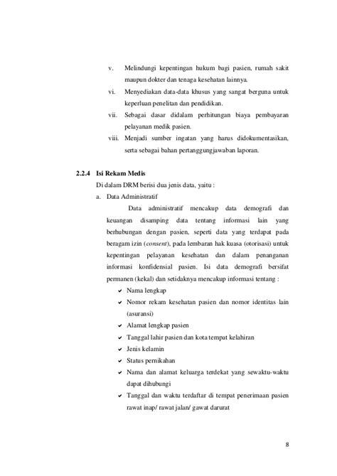 Aspek Hukum Informed Consent Dan Rekam Medis laporan pkl rekam medis