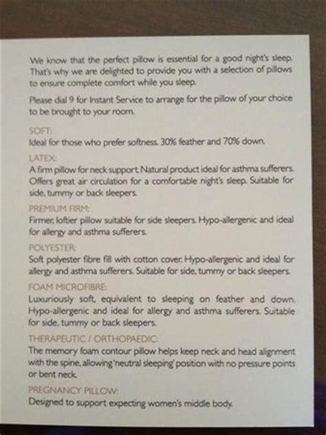 shangri la room service menu pillow menu picture of intercontinental sydney sydney tripadvisor