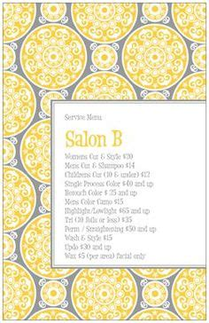 Carlton Cards 90 Address Labels Template by Salon Menu On Salons Bars And Bar