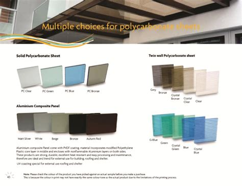 Color Sheet by Polycarbonate Singapore Color Sheet