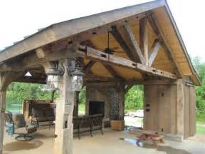 Vintage Barn beam pavilion   Mediterranean   nashville   by Appalachian Log and Timber Homes