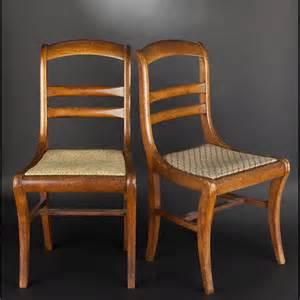 paire de chaises en bois fruitier epoque louis philippe