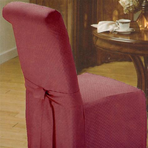 new wine burgundy armless dining room chair slipcover