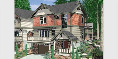 front sloping lot house plans narrow lot house plans building small houses for small lots