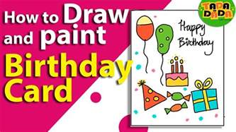 how to make an easy birthday card birthday greeting card drawing lesson 19