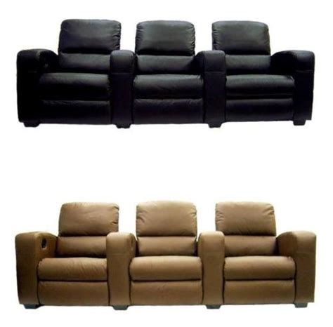 Reclining Theater Chairs by Home Theater Seats Leather Recliners 3 Chairs 2