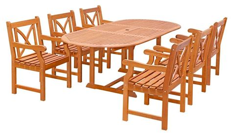 6 Chair Patio Dining Set 7 Pc Outdoor Drop Leaf Patio Dining Set W 6 Chairs Express Home Decor