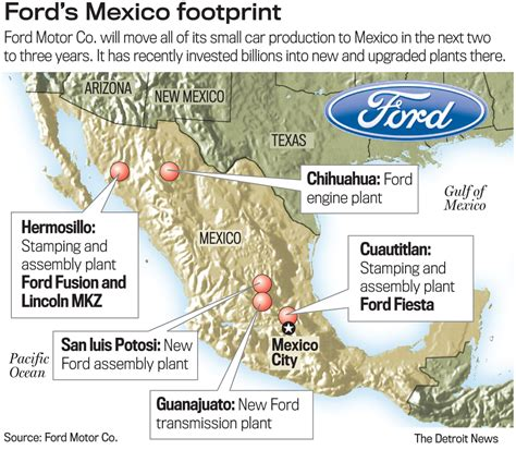 ford plant locations ford all small car production to mexico