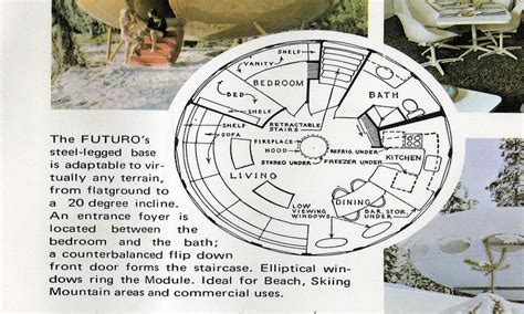 futuro house floor plan futuro house model futuro house floor plan unusual floor