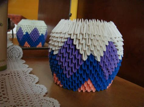 3d Origami Flower Pot - pencil holder album trusha 3d origami