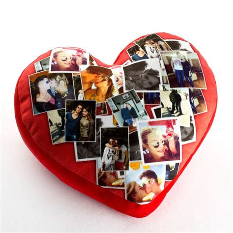cuscino con la foto cuscino cuore personalizzato con foto nome dedica in 48ore