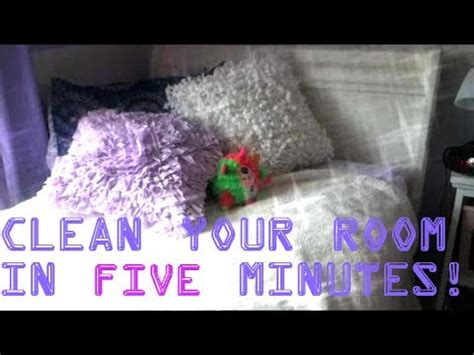 how to clean your room in 5 minutes clean your room in five minutes