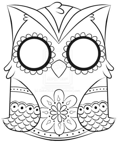 owl head printable owl coloring pages to print only coloring pages
