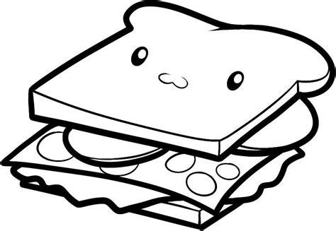 chicken sandwich coloring page disegno da colorare per bambini panino sandwich con occhi