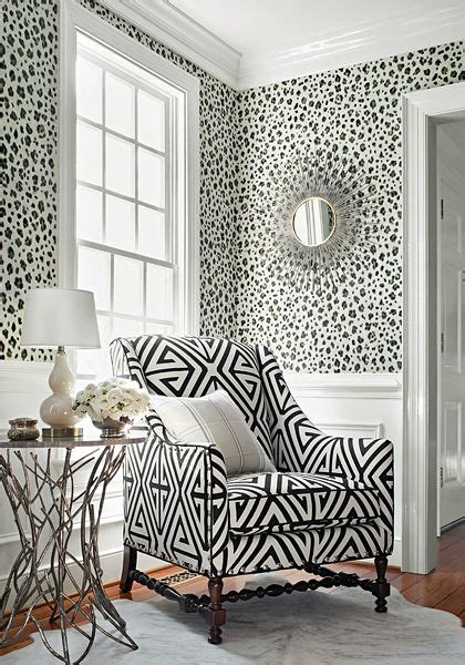 wallpaper design sles thibaut panthera wallpaper in black and white