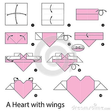 How To Make A Origami With Wings - step by step how to make origami a with