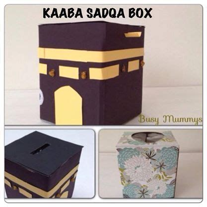 Paper Bag Kabah kaaba sadqa box out of a tissue box cover with black
