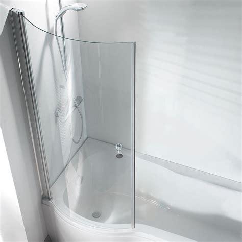 curved shower bath screen p shape curved bathroom pivot glass shower bath screen