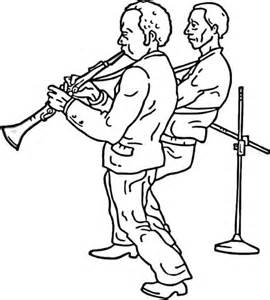 Jazz Clarinet Coloring Sheets Pages sketch template