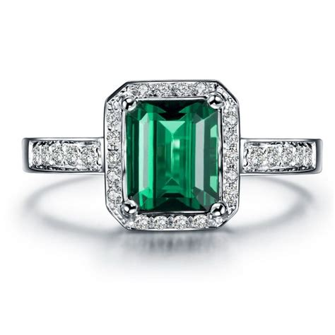 classic 1 50 carat emerald and engagement ring in