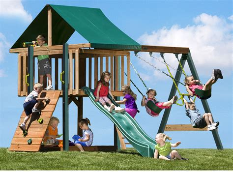 kids play swing set great environment school at selangor malaysia commercial