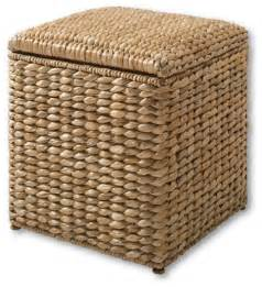 Seagrass Storage Ottoman Seaforth Ottoman Tropical Footstools And Ottomans By Lands End