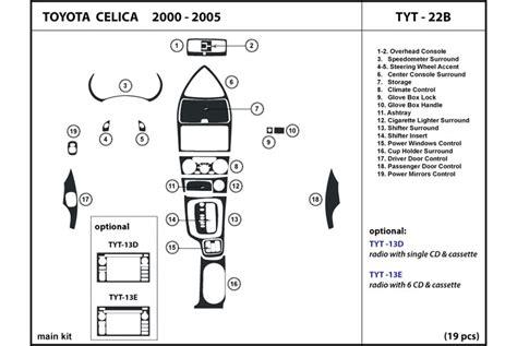 Toyota Parts Catalog Diagram 2002 Toyota Celica Dash Diagram Toyota Auto Parts