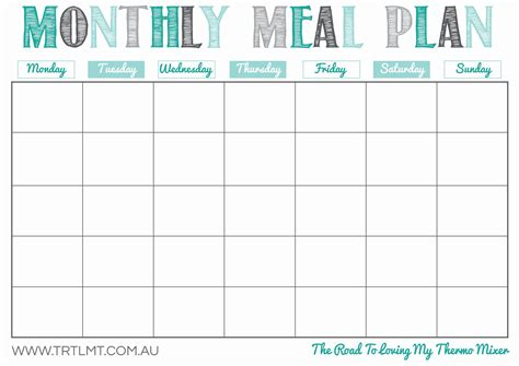 free meal planner template monthly meal planner template event planner template