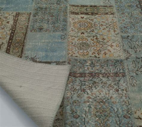Turkish Overdyed Patchwork Rugs - k0006126 dyed turkish patchwork rug overdyed