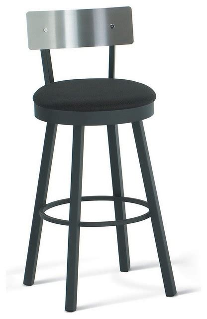 Stainless Steel Swivel Bar Stools by Amisco Swivel Stool With Stainless Steel Backrest 40493 Transitional Bar Stools And