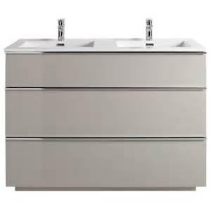 meuble de salle de bains taupe 120 cm pamili castorama
