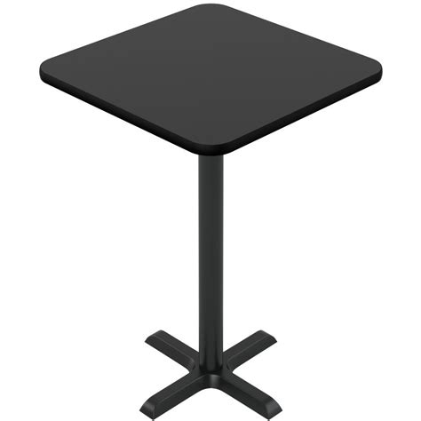 Black Table Restaurant by Laminate Reversible Bar Table In Black Mahogany