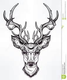 deer head in line art style stock vector image 65166796