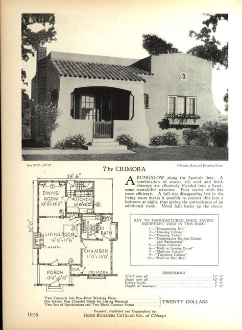 spanish bungalow house plans spanish bungalow house plans