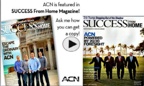 company acn featuring in success from home magazine 11