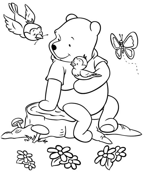 winnie the pooh color sheets coloring home
