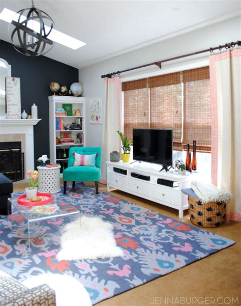 putting a tv in front of a window hometalk eclectic living room makeover reveal