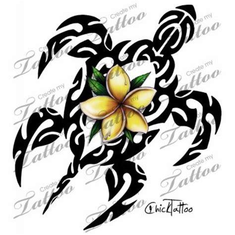 honu tattoo designs marketplace polynesian plumeria honu tahitian style