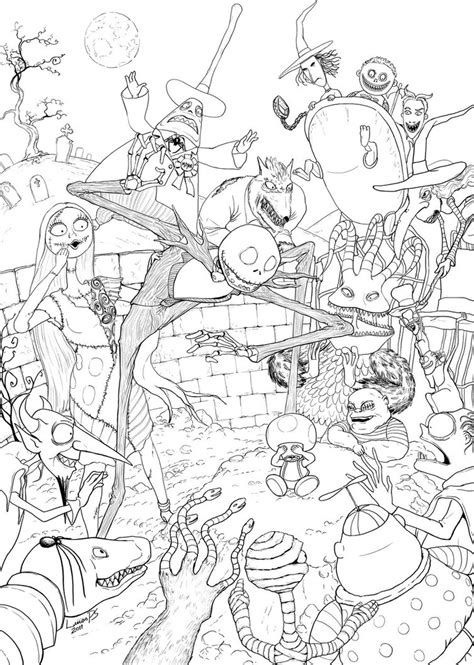 tim burton s nightmare before christmas coloring pages toad s nightmare what s this by lucasparolin on deviantart