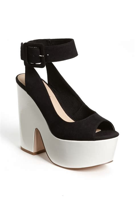 black platform sandals with ankle topshop ankle platform sandal in black black
