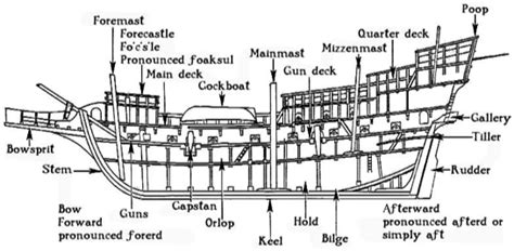 ship section names the anatomy of a pirate ship pirate ship cruise