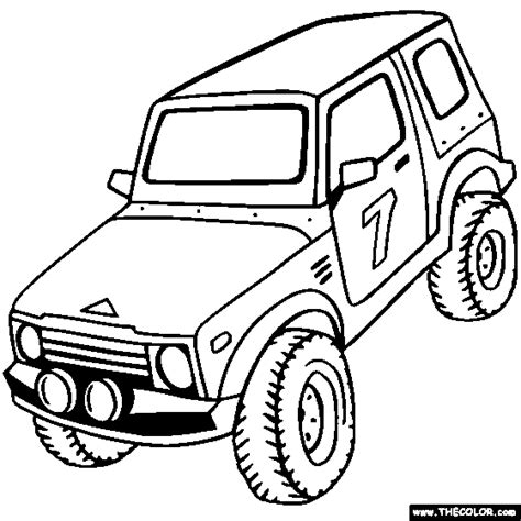 Jeep Truck Coloring Pages Free Printable Coloring Pages