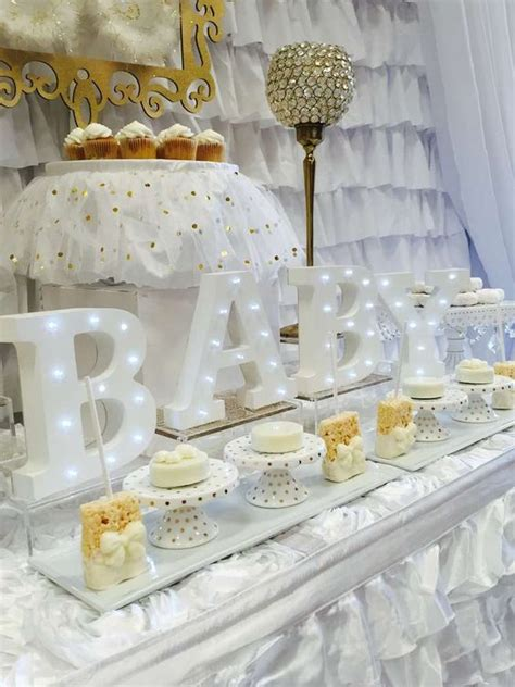 White And Gold Baby Shower Theme by The World S Catalog Of Ideas