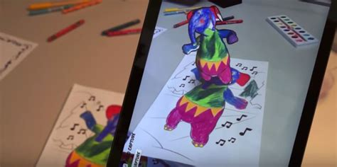 coloring book app project disney changes your color book drawings into 3d augmented