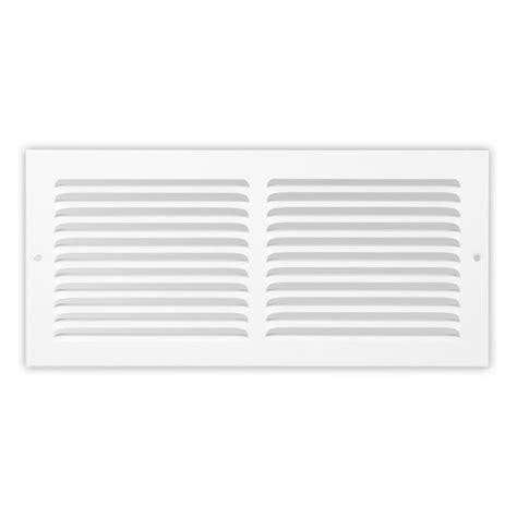 20x8 Soft White Baseboard Return Air Grille Steel