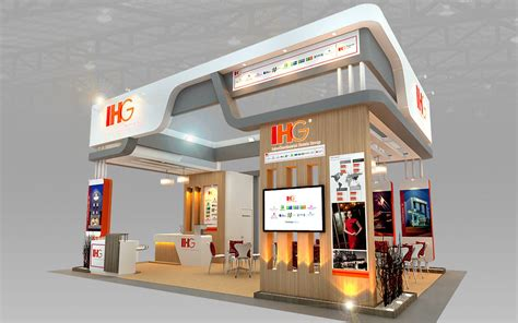 design booth ihg hotel booth design 3d model max 3ds cgtrader com